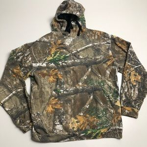 Realtree Camo Staghorn Hoodie Mens Small